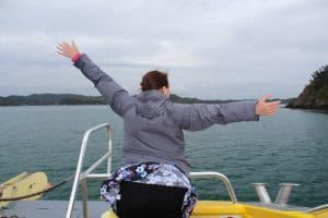 What would be a boat trip be without a Titanic moment