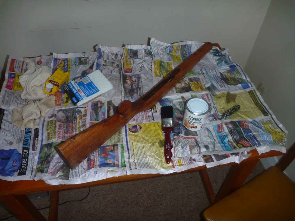 First coat of Danish oil on the Norinco JW-15